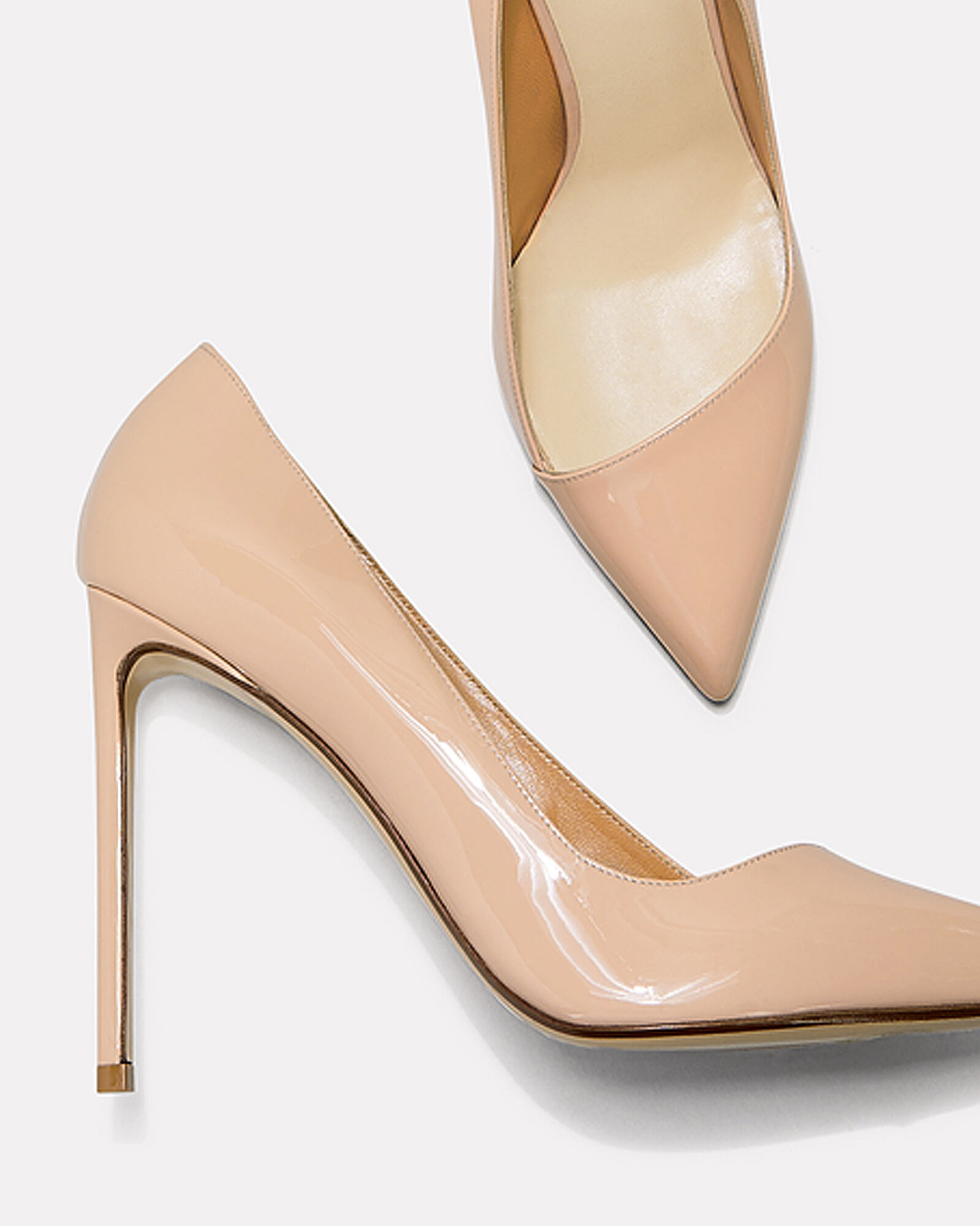 Beige Patent Leather Pumps, BEIGE, hi-res