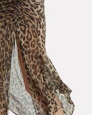 Leopard Drawstring Dress, LEOPARD, hi-res