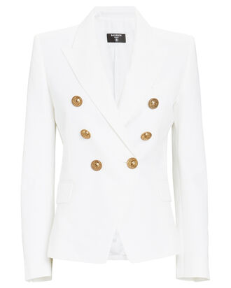 Serge Double-Breasted Blazer, WHITE, hi-res