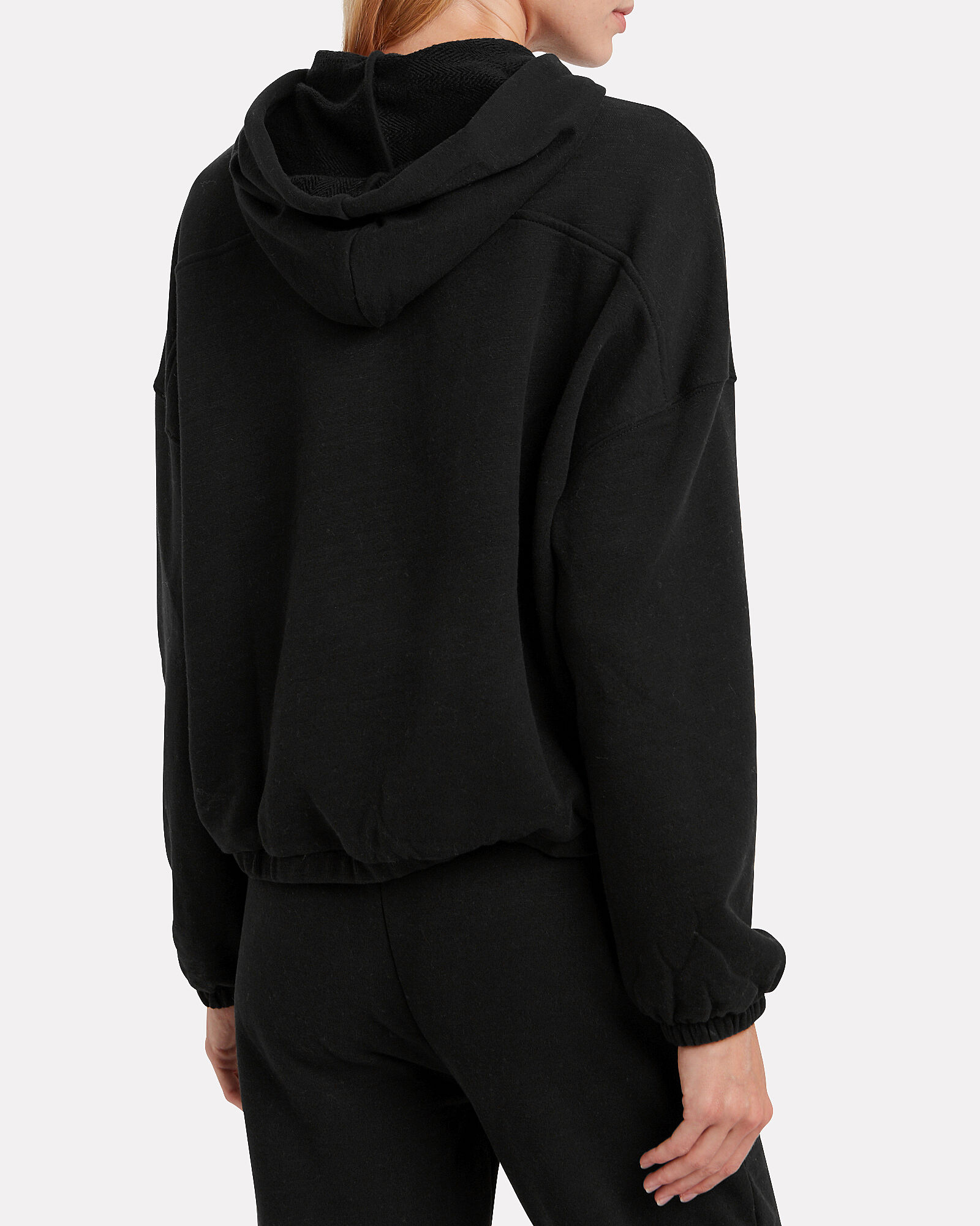 French Terry Sweatshirt, BLACK, hi-res