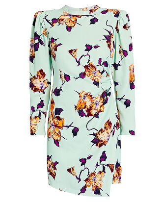 Jane Draped Floral Dress, MULTI, hi-res