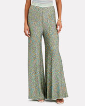 Sequin-Stiched Wide-Leg Trousers, TURQUOISE, hi-res