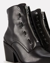 Ryder Lace-Up Leather Booties, BLACK, hi-res