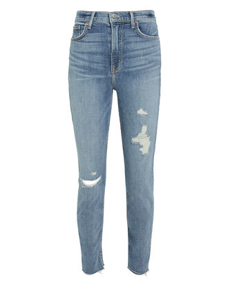 Kendall Distressed Light Blue Skinny Jeans, LIGHT BLUE DENIM, hi-res