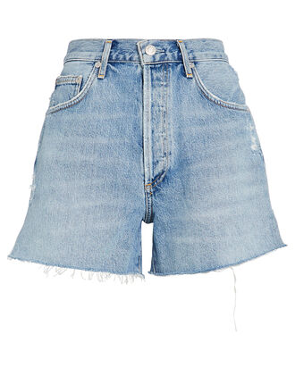 Dee High-Rise Denim Shorts, LIGHT WASH DENIM, hi-res