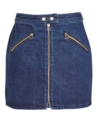 Racer Skirt, DARK BLUE DENIM, hi-res