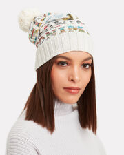 Pom Top Logo Hat, WHITE, hi-res