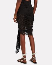 Tulum Ruched High-Low Skirt, BLACK, hi-res