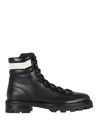 Eshe Leather Combat Boots, BLACK, hi-res