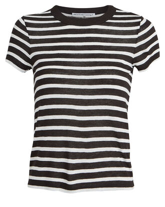 Striped Slub Boy T-Shirt, BLK/WHT, hi-res