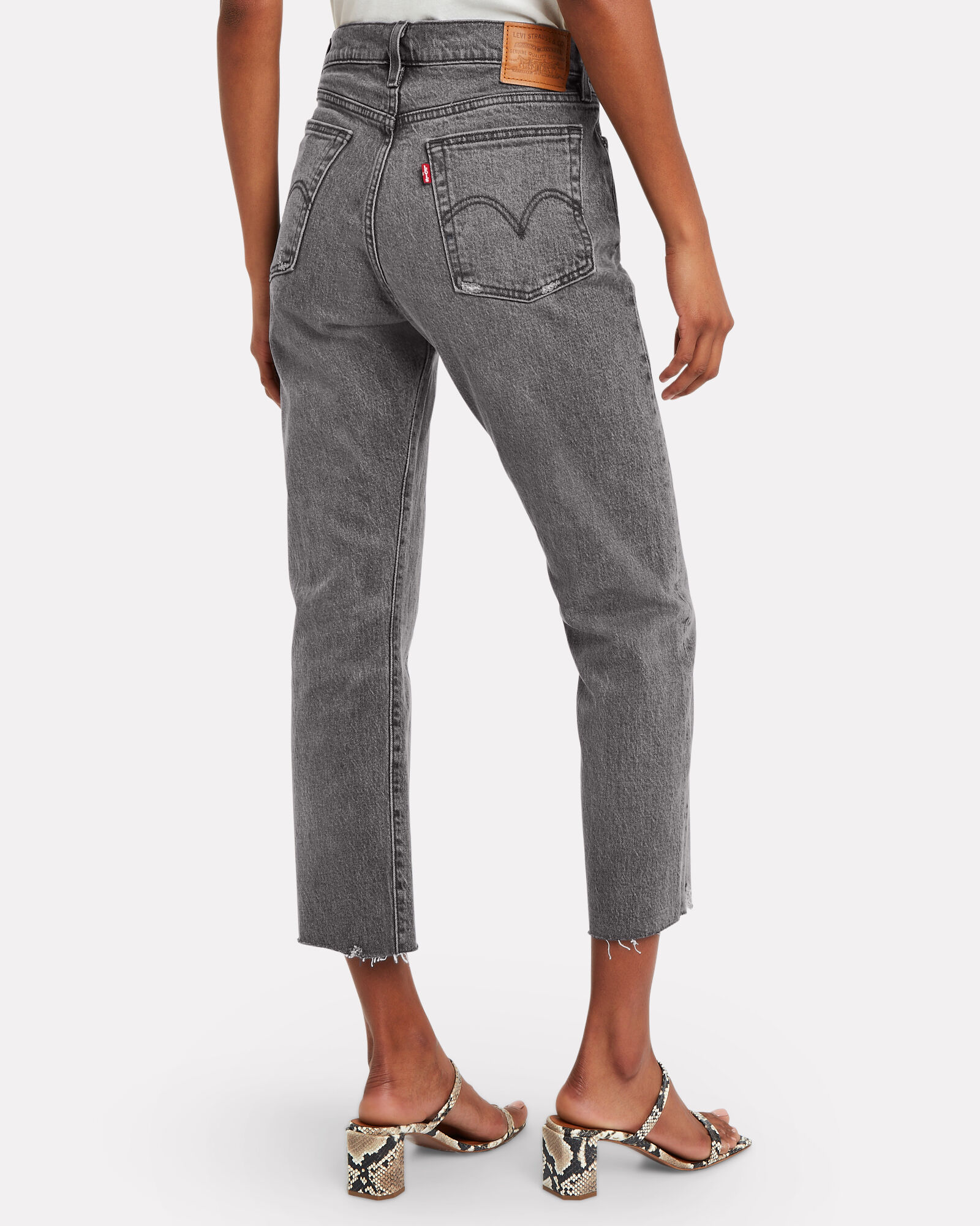 Wedgie Icon High-Rise Jeans, GREY, hi-res