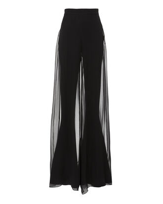 Erie Chiffon Flare Pants, BLACK, hi-res