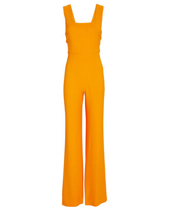 Jules Sleeveless Wide-Leg Jumpsuit, ORANGE, hi-res