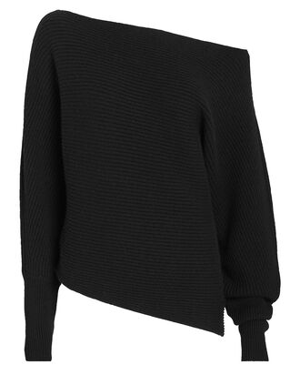 Jacqueline Off-The-Shoulder Sweater, BLACK, hi-res
