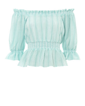Viola Seersucker Smock Top, LIGHT BLUE, hi-res