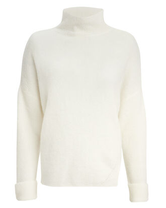 Oversized Turtleneck Sweater, IVORY, hi-res