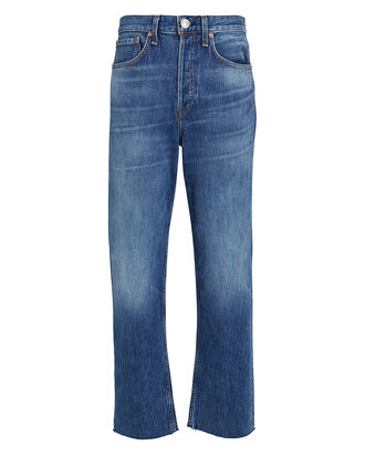 Maya High-Rise Straight Jeans, MEDIUM WASH DENIM, hi-res