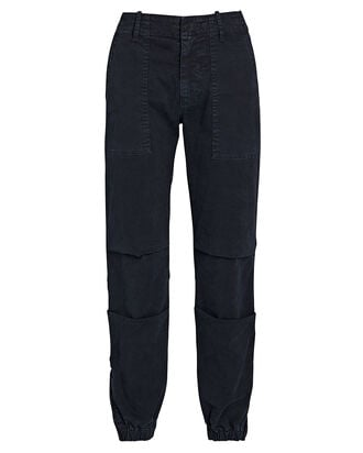 Cropped French Military Pants, NAVY, hi-res