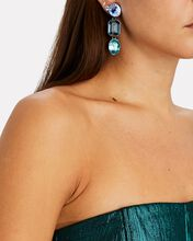 Ombré Crystal Drop Earrings, BLUE-MED, hi-res