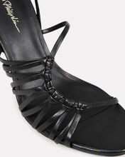 Lily Strappy Leather Sandals, BLACK, hi-res