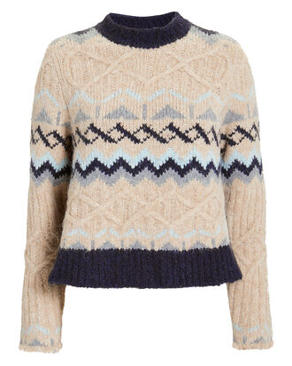 Fair Isle Knitted sweater, MULTI, hi-res