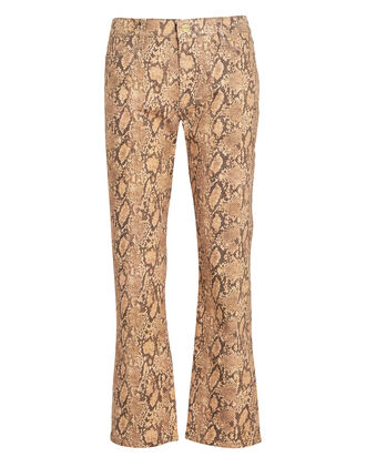Le High Coated Python-Print Jeans, MULTI, hi-res