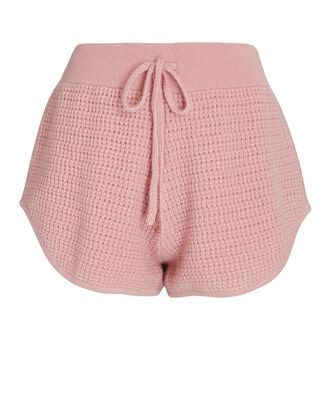 Anzere Cashmere Knit Shorts, PINK, hi-res