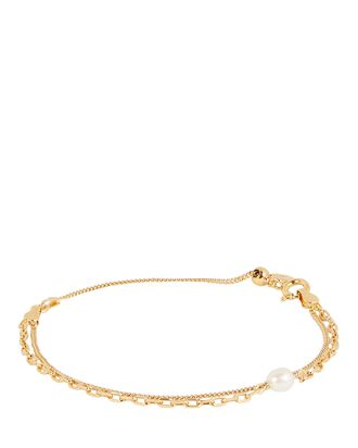 Cantare Pearl Chain-Link Bracelet, GOLD, hi-res