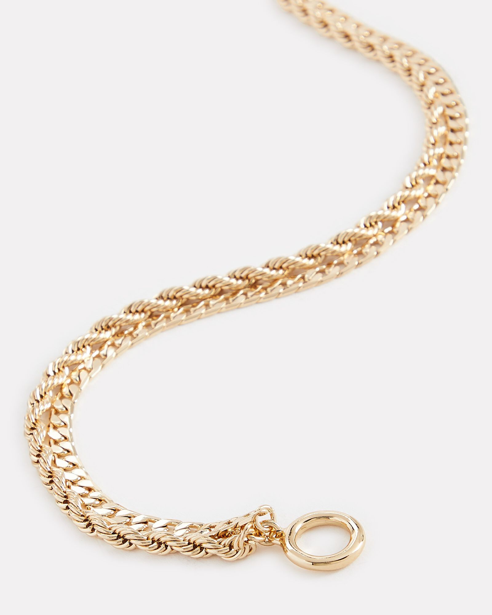 Stevie Double Layer Chain Necklace, GOLD, hi-res