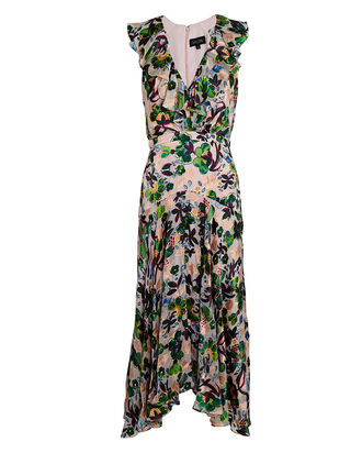 Rita Ruffled Floral Midi Dress, MULTI, hi-res