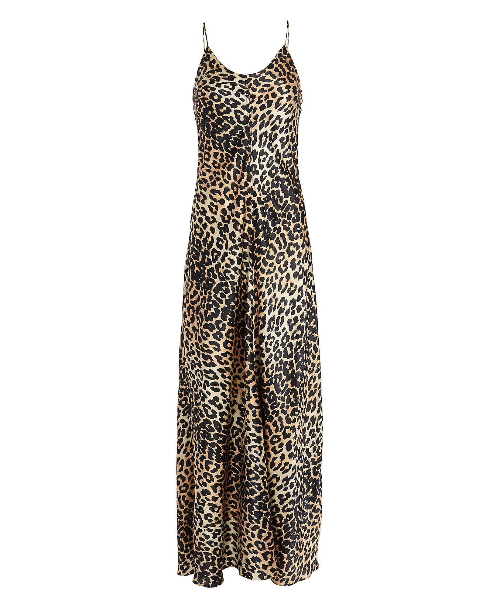 Leopard Print Silk Gown, BROWN/BLACK, hi-res