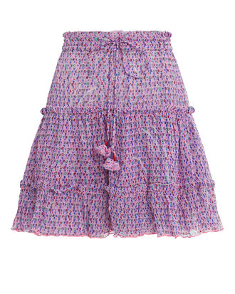 Clara Ruffle Skirt, PURPLE, hi-res