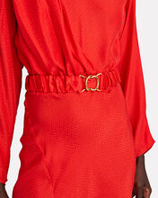 Carmen Jacquard Midi Dress, RED, hi-res