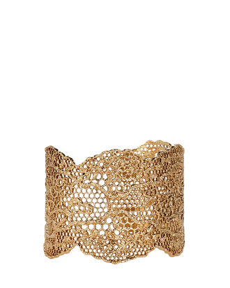 Vintage Lace Gold Cuff, GOLD, hi-res