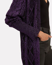 Iris Purple Cardigan, DARK PURPLE, hi-res