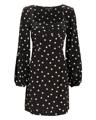 April Polka Dot Dress, BLACK, hi-res