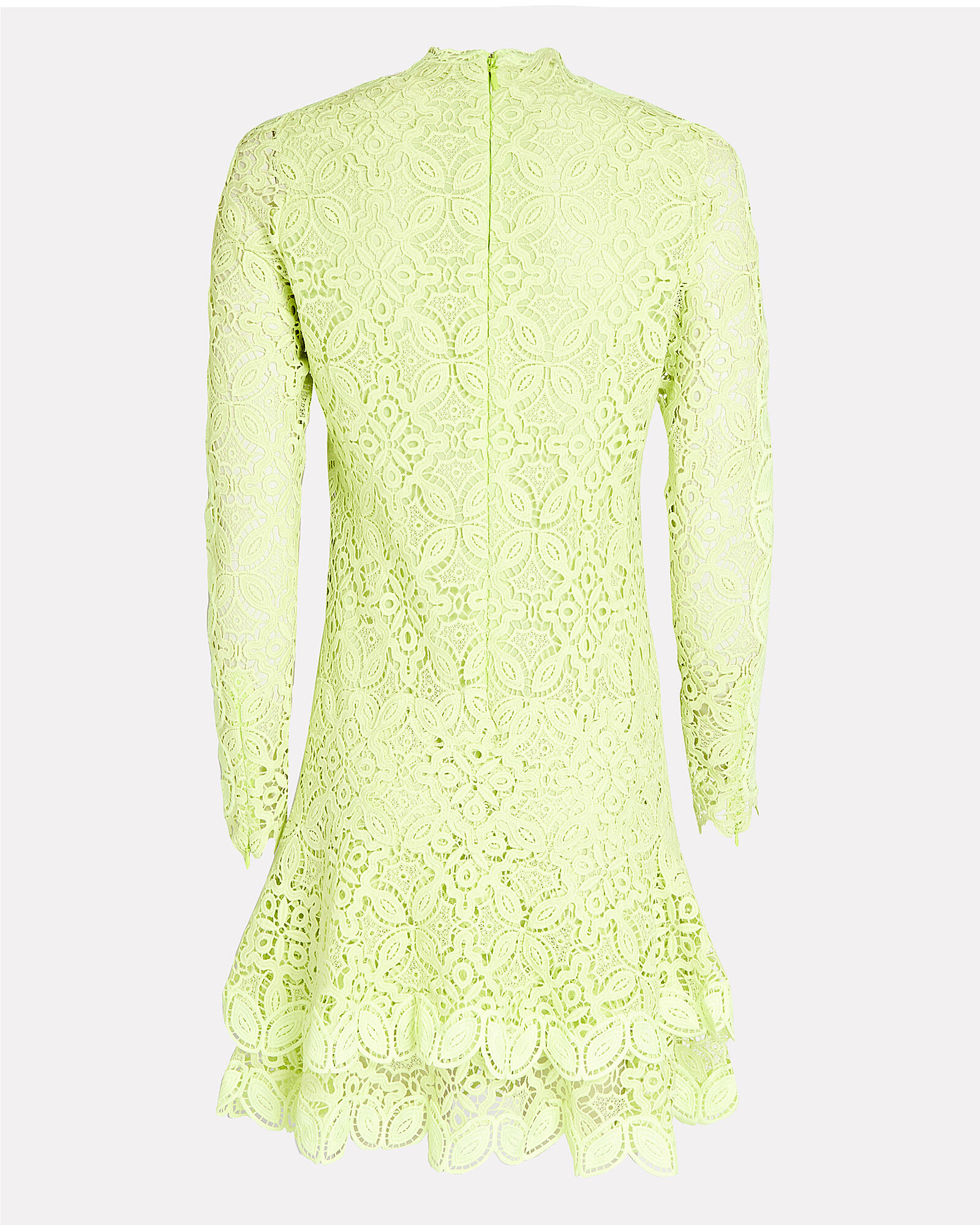 Guipure Lace Mini Dress, GREEN-LT, hi-res