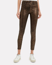 Margot Cheetah Coated Jeans, BLACK, hi-res