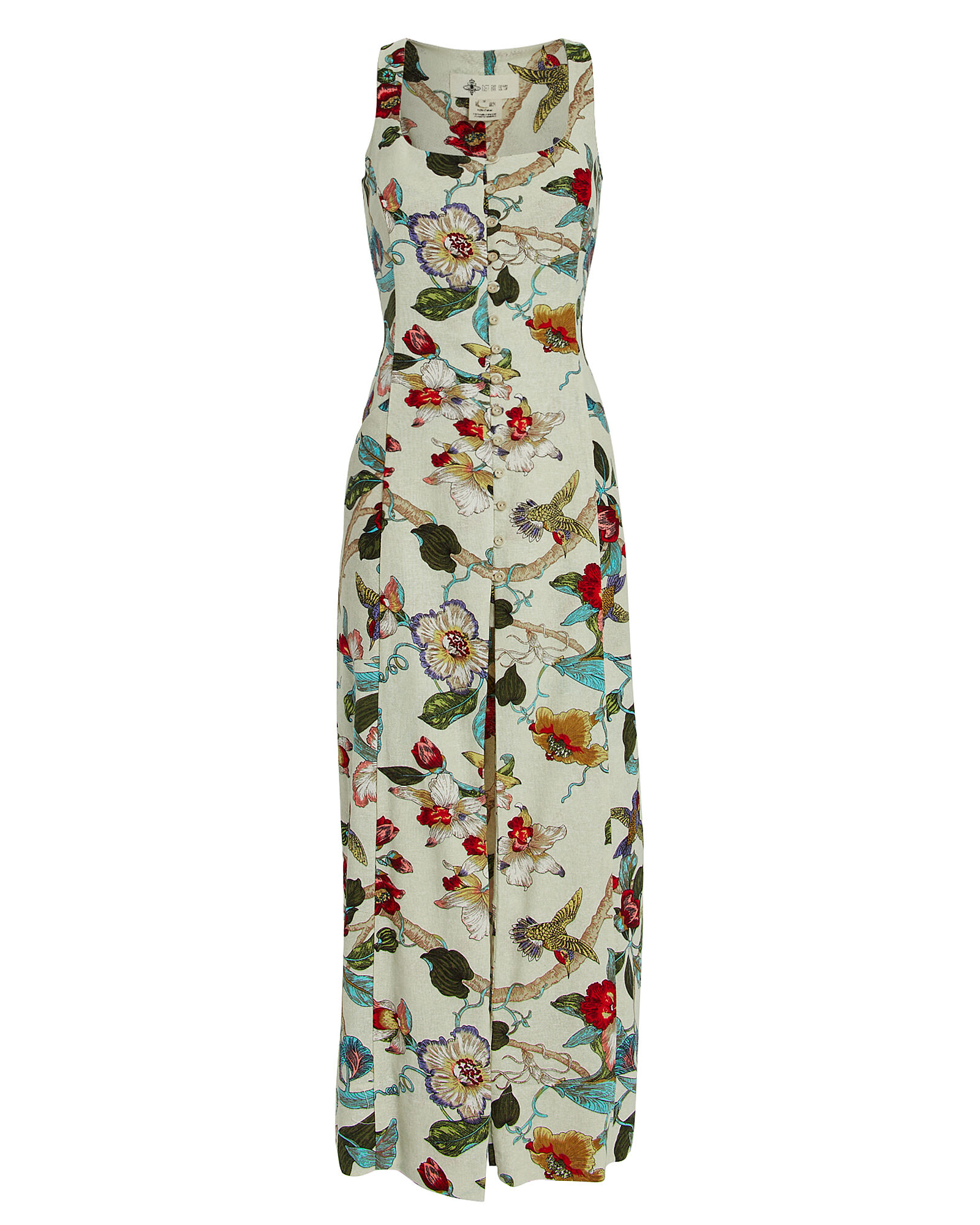 Catalina Floral Cotton Dress, BEIGE/FLORAL, hi-res
