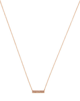 Jumbo Diamond Mini Bar Necklace, ROSE GOLD, hi-res