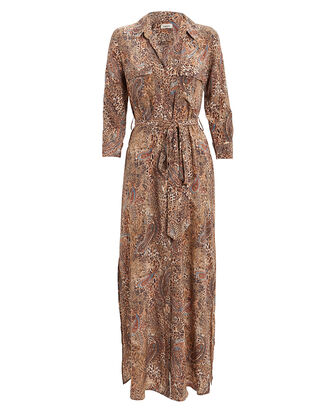 Cameron Leopard & Paisley Shirt Dress, MULTI, hi-res