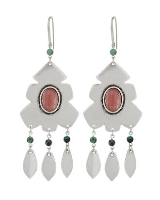 Adamama Beaded Earrings, SILVER, hi-res