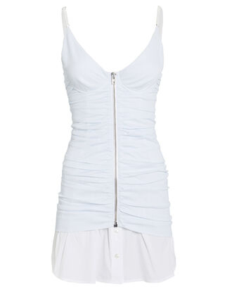 Ruched Pinstripe Camisole Dress, MULTI, hi-res