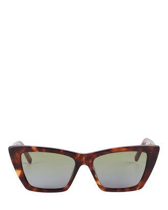 Mica Cat Eye Sunglasses, BROWN, hi-res