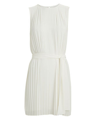 Tilly Pleated Mini Dress, IVORY, hi-res