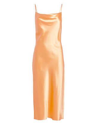 Peach Cowl Neck Slip Dress, PEACH, hi-res