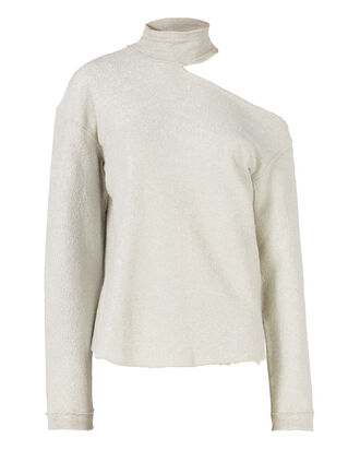 Langley Metallic Sweatshirt, GOLD, hi-res