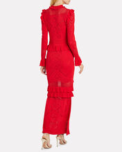 CeeCee Pointelle Knit Maxi Dress, RED, hi-res