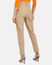 Diego Tapered Paperbag Trousers, BEIGE, hi-res
