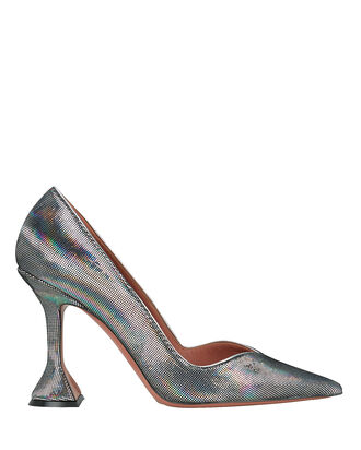 Giorgia Iridescent Leather Pumps, SILVER, hi-res